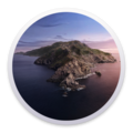 round image of catalina island Mac OS 10.15